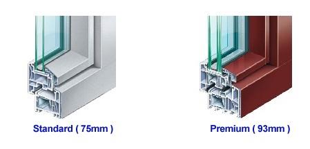 uPVC + Aluminium material
