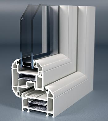 uPVC Double Glazed Windows Cross Section